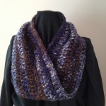 Blue Knit Mobius Scarf