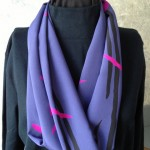 Blue Straight Grain Fabric Infinity Scarf