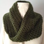 Green Knit Mobius Scarf