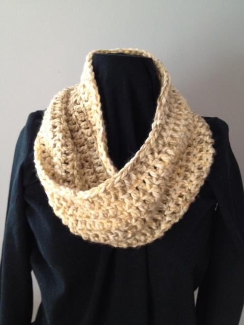 Khaki Knit Mobius Scarf