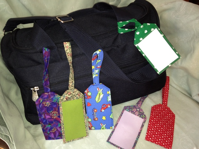 luggage tags with bag