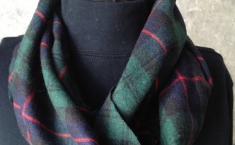 Plaid Wool Infinity Scarf