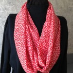 Red Straight Grain Fabric Infinity Scarf