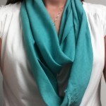 Teal Bias-cut Scarf