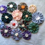 Yo-yo Fabric Hair Clips
