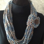 Blue Crochet Rope Scarf