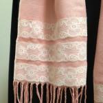 Pink Pashmina Scarf Detail