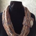 Tan Crochet Rope Scarf