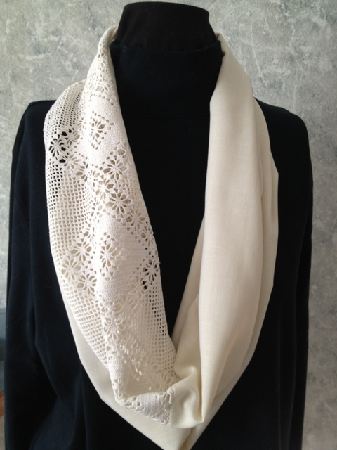 Vintage Lace Infinity Scarf