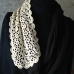 Vintage Lace Black & White Scarf