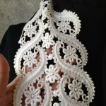 Vintage Lace Black & White Special Scarf Detail