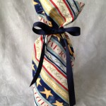 Striped Holiday Wine Bag