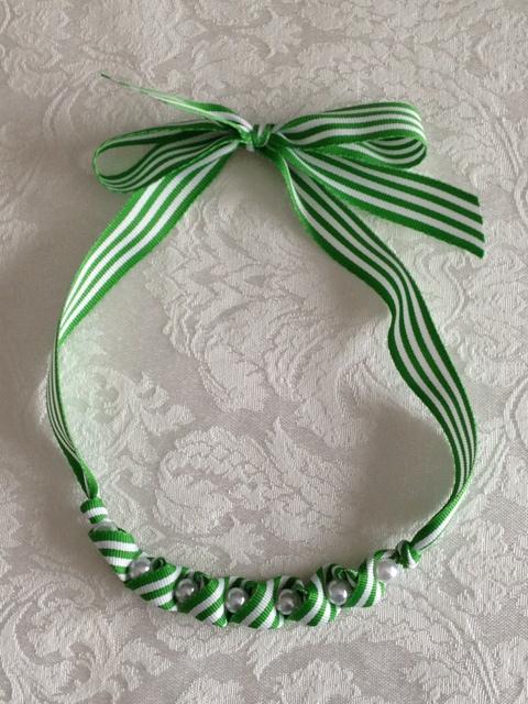 St. Patrick's Day Ribbon Necklace 1