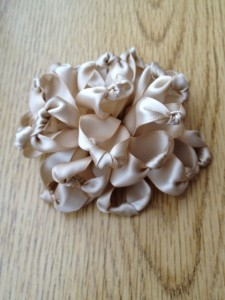 Beige ribbon rose