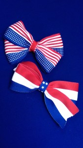 Flag and Stripe Hairbows