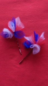 Itty-bitty Tulle Bobby pins