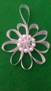 Silver ribbon snowflake
