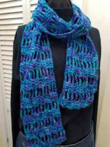 turquoise-chain-crochet-scarf