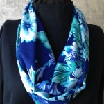 Floral Straight Grain Fabric Infinity Scarf