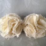 Shaggy Flower Hair Clips Detail