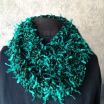Teal Knit Double Loop Scarf
