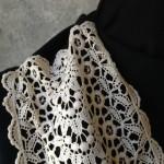 Vintage Lace Black & White Scarf Detail