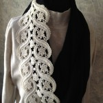 Vintage Lace Black & White Special Scarf